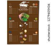 menu shabu sukiyaki restaurant... | Shutterstock .eps vector #1279605436
