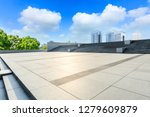 empty square floor and modern... | Shutterstock . vector #1279609879