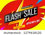 flash sale banner template.red... | Shutterstock .eps vector #1279618120