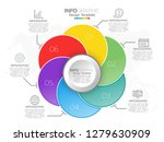 infographic template design... | Shutterstock .eps vector #1279630909