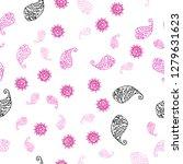 light pink vector seamless... | Shutterstock .eps vector #1279631623