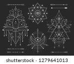 vector kit of sacred geometric...   Shutterstock .eps vector #1279641013