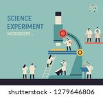 a huge microscope and a small... | Shutterstock .eps vector #1279646806