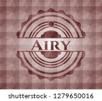 airy red emblem or badge with... | Shutterstock .eps vector #1279650016