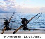 two fishing rods held in... | Shutterstock . vector #1279664869