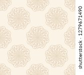 luxury gold ornament. vector... | Shutterstock .eps vector #1279671490