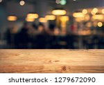 wood texture table top  counter ... | Shutterstock . vector #1279672090