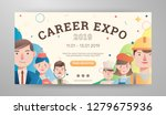 career expo banner with avatar... | Shutterstock .eps vector #1279675936