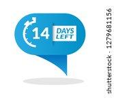 14 days left sign   emblem ...