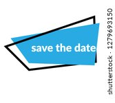 save the date sign  emblem ...