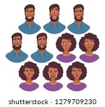 portrait of african man and...   Shutterstock . vector #1279709230