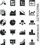 solid black vector icon set  ... | Shutterstock .eps vector #1279712986
