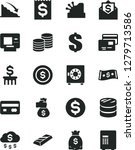 solid black vector icon set  ... | Shutterstock .eps vector #1279713586