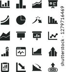 solid black vector icon set  ... | Shutterstock .eps vector #1279716469