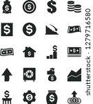 solid black vector icon set  ... | Shutterstock .eps vector #1279716580