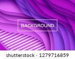 trendy purple paper cut wave... | Shutterstock .eps vector #1279716859
