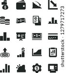 solid black vector icon set  ... | Shutterstock .eps vector #1279717273