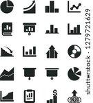 solid black vector icon set  ... | Shutterstock .eps vector #1279721629