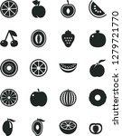 solid black vector icon set  ... | Shutterstock .eps vector #1279721770