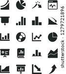 solid black vector icon set  ... | Shutterstock .eps vector #1279721896
