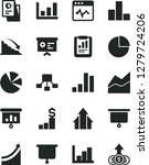 solid black vector icon set  ... | Shutterstock .eps vector #1279724206