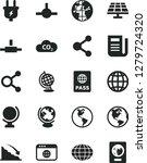 solid black vector icon set  ... | Shutterstock .eps vector #1279724320