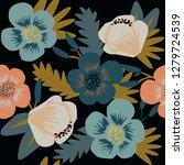 flower pattern. bouquet of... | Shutterstock .eps vector #1279724539