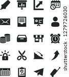 solid black vector icon set  ... | Shutterstock .eps vector #1279726030