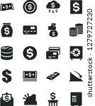 solid black vector icon set  ... | Shutterstock .eps vector #1279727230