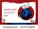 theatre festival landing page... | Shutterstock . vector #1279733896