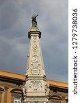 san domenico obelisk in naples... | Shutterstock . vector #1279738036