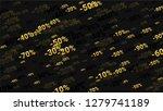 percent sings on dark... | Shutterstock .eps vector #1279741189