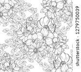 flower print. elegance seamless ... | Shutterstock . vector #1279750039