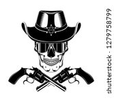 skull in a sheriff's hat in... | Shutterstock .eps vector #1279758799
