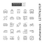 transportation and vehicle... | Shutterstock .eps vector #1279761919
