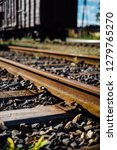 closeup view of railway tracks... | Shutterstock . vector #1279765270