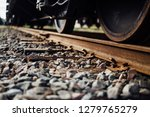 closeup view of railway tracks... | Shutterstock . vector #1279765279