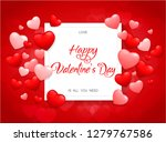 valentine's day background with ...   Shutterstock .eps vector #1279767586