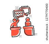 politic debate icon in comic... | Shutterstock .eps vector #1279770400