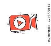video camera icon in comic... | Shutterstock .eps vector #1279770553