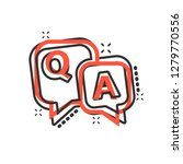 question and answer icon in... | Shutterstock .eps vector #1279770556