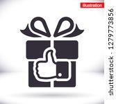 like gift vector icon