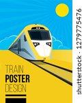 flat style train poster design | Shutterstock .eps vector #1279775476