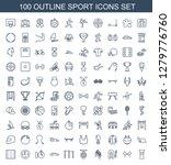 sport icons. trendy 100 sport...   Shutterstock .eps vector #1279776760