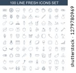 fresh icons. trendy 100 fresh... | Shutterstock .eps vector #1279780969