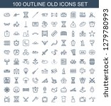 100 old icons. trendy old icons ... | Shutterstock .eps vector #1279780993