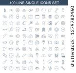 single icons. trendy 100 single ... | Shutterstock .eps vector #1279782460