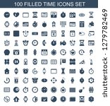 time icons. trendy 100 time... | Shutterstock .eps vector #1279782469