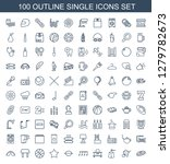 100 single icons. trendy single ... | Shutterstock .eps vector #1279782673