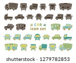 icon set of car   silhouette  ... | Shutterstock .eps vector #1279782853